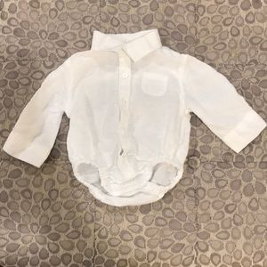 Janie and Jack 0-3 month Linen Bodysuit